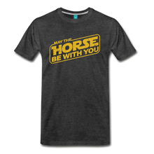 Load image into Gallery viewer, Men's May The Horse be with You T-Shirt - charcoal gray