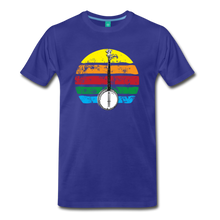 Load image into Gallery viewer, Men's Banjo Rainbow T-Shirt - royal blue