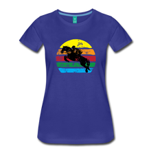 Load image into Gallery viewer, Women's Jumping Sun T-Shirt - royal blue