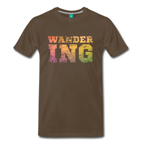 Men's Wandering T-Shirt - noble brown