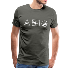 Load image into Gallery viewer, Men's Horse Symbols (solid) T-Shirt - asphalt gray