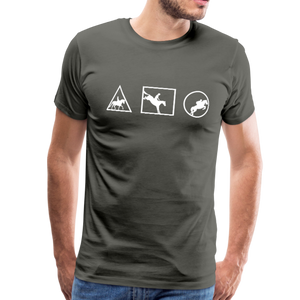 Men's Horse Symbols (solid) T-Shirt - asphalt gray