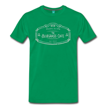 Load image into Gallery viewer, Men's The Bluegrass Cafe (music is life) T-Shirt - kelly green