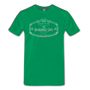 Men's The Bluegrass Cafe (music is life) T-Shirt - kelly green