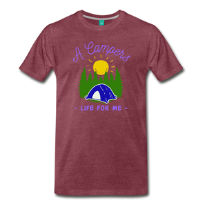 Men's Campers Life T-Shirt - heather burgundy
