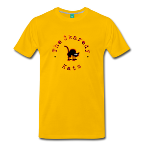 Men's The Skaredy Katz T-Shirt - sun yellow