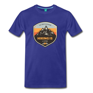 Men's Hiking T-Shirt - royal blue