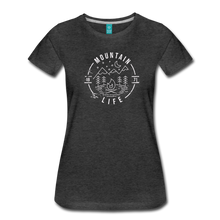 Load image into Gallery viewer, Women's Distressed Mountain Life T-Shirt - charcoal gray