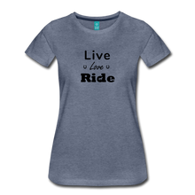 Load image into Gallery viewer, Women's Live Lover Ride T-Shirt - heather blue