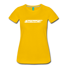 Load image into Gallery viewer, Women's Got Horse T-Shirt - sun yellow