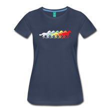 Load image into Gallery viewer, Women's Retro Rainbow Horse T-Shirt - navy