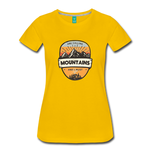 Women's Mountain's Calling T-Shirt - sun yellow