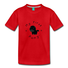 Load image into Gallery viewer, Toddler My First Pony T-Shirt (black) - red