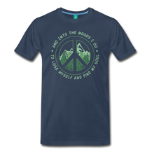 Load image into Gallery viewer, Men's Into the Woods I Go T-Shirt - navy
