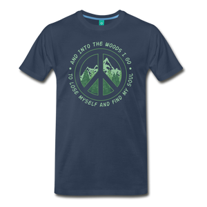 Men's Into the Woods I Go T-Shirt - navy