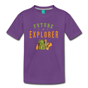 Kids' Future Explorer T-Shirt - purple