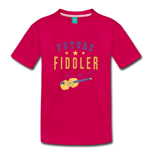 Toddler Future Fiddler T-Shirt - dark pink