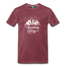 Load image into Gallery viewer, Men's Mountains T-Shirt (white) - heather burgundy