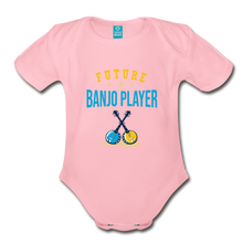 Load image into Gallery viewer, Future Banjo Player Baby Bodysuit - light pink