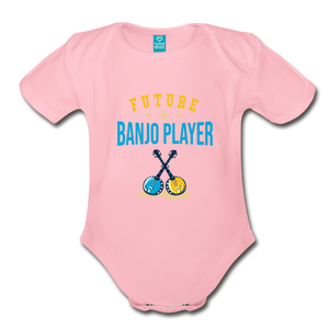 Future Banjo Player Baby Bodysuit - light pink