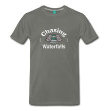 Load image into Gallery viewer, Men's Chasing Waterfalls T-Shirt - asphalt