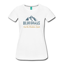 Load image into Gallery viewer, Women's Bluegrass Mountains Speak T-Shirt - white