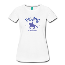 Load image into Gallery viewer, Women's Playing in the Sandbox T-Shirt - white
