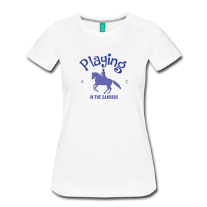 Women's Playing in the Sandbox T-Shirt - white