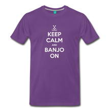 Load image into Gallery viewer, Men's Keep Calm and Banjo On T-Shirt - purple