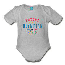 Load image into Gallery viewer, Future Olympian Baby Bodysuit - heather gray