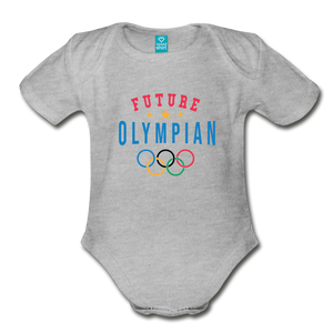 Future Olympian Baby Bodysuit - heather gray