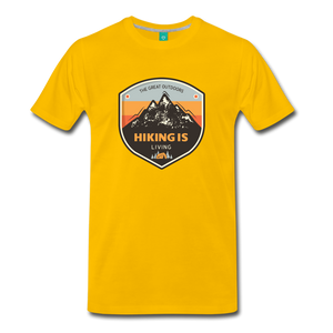 Men's Hiking T-Shirt - sun yellow