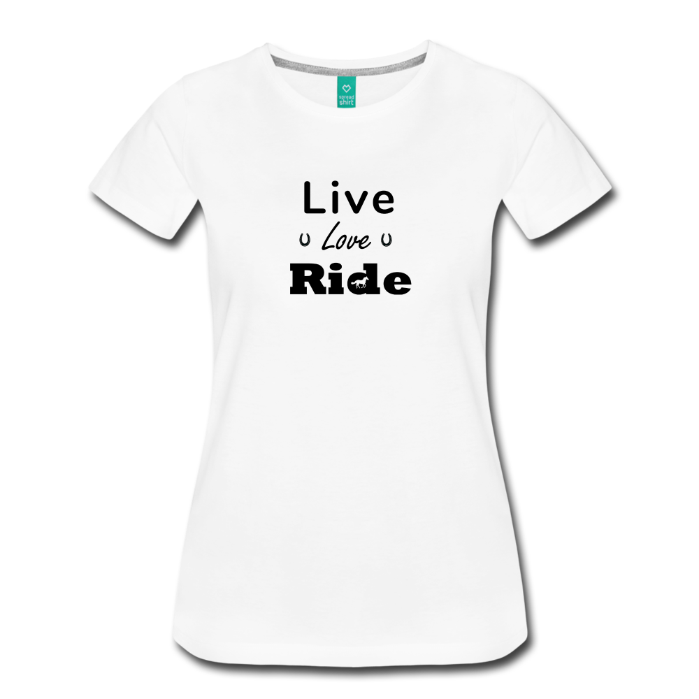 Women's Live Lover Ride T-Shirt - white