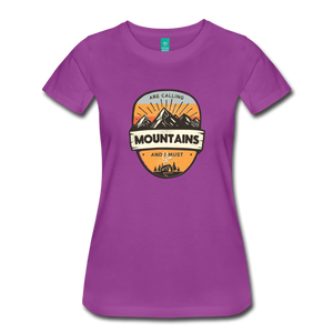 Women's Mountain's Calling T-Shirt - light purple
