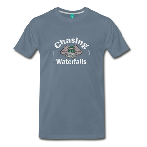 Men's Chasing Waterfalls T-Shirt - steel blue