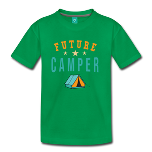 Kids' Future Camper T-Shirt - kelly green