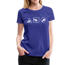 Load image into Gallery viewer, Women's Horse Symbols (solid) T-Shirt - royal blue