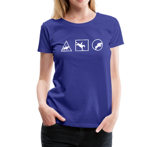 Women's Horse Symbols (solid) T-Shirt - royal blue