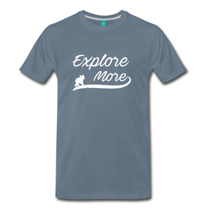 Men's Explore More T-Shirt - steel blue