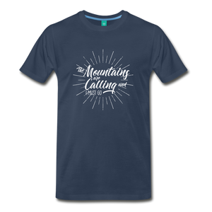 Men's Mountain Calling T-Shirt (white) - navy