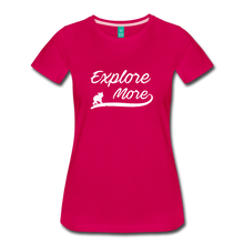 Load image into Gallery viewer, Women's Explore More T-Shirt - dark pink