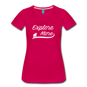 Women's Explore More T-Shirt - dark pink