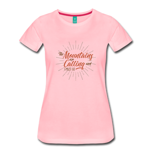 Women's Mountain Calling T-Shirt - pink