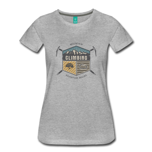 Women's Climbing T-Shirt - heather gray