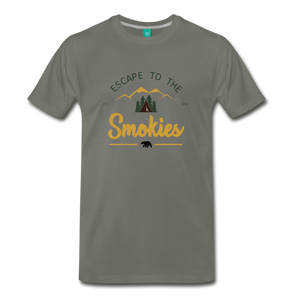 Men's Escape to the Smokies T-Shirt - asphalt