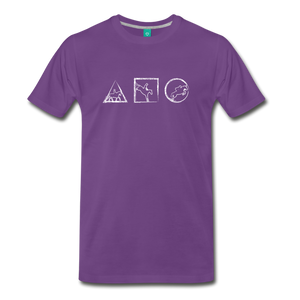 Men's Horse Symbols T-Shirt - purple
