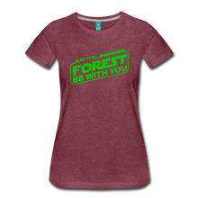 Load image into Gallery viewer, Women's May the Forest be with You T-Shirt - heather burgundy