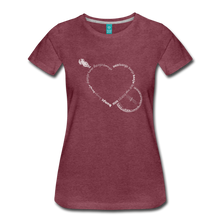 Load image into Gallery viewer, Women's Bnajo Heart T-Shirt - heather burgundy