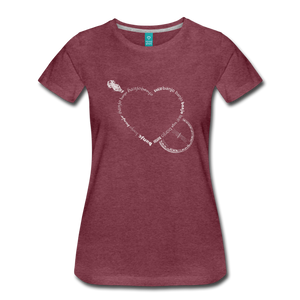 Women's Bnajo Heart T-Shirt - heather burgundy