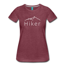 Load image into Gallery viewer, Women's Hiker T-Shirt - heather burgundy